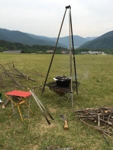 焚き火番の椅子なも最適