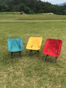 カラバリはもっとあるけれど、我が家のテントサイトのカラーを考慮してこの3色